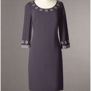New Boden Hand Finished Beaded Dress Size 12